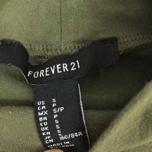 Forever 21 Dresses - Forever 21-long fitted dress, olive green, size S